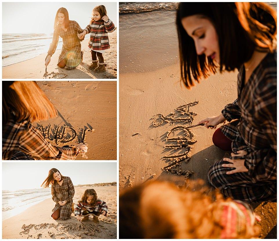 Sesión de embarazo en la playa